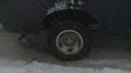 HD2008-12-7-16 snow traffic spinning tires Stock Video Footage