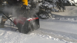 HD2008-12-7-22 snowblower Stock Video Footage