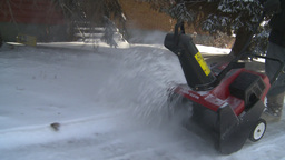 HD2008-12-7-24 snowblower Stock Video Footage