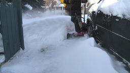 HD2008-12-7-26 snowblower Stock Video Footage