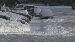 HD2008-12-7-32 snowy street Stock Video Footage