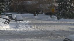 HD2008-12-7-36 snowy street Stock Video Footage