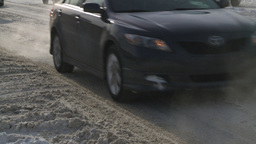HD2008-12-7-38 snow traffic Stock Video Footage