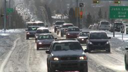 HD2008-12-7-40 snow traffic Footage