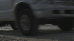 HD2008-12-7-42 snow traffic Stock Video Footage