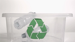 Bottle falling in super slow motion Footage