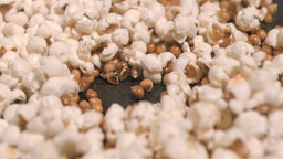 Corn exploding in super slow motion Footage