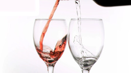 Wines been poured in super slow motion Stock Video Footage