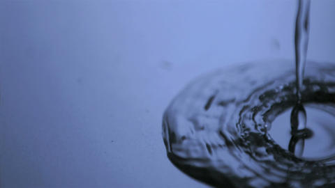 Water flowing in super slow motion Footage