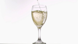 White wine been poured in super slow motion Footage