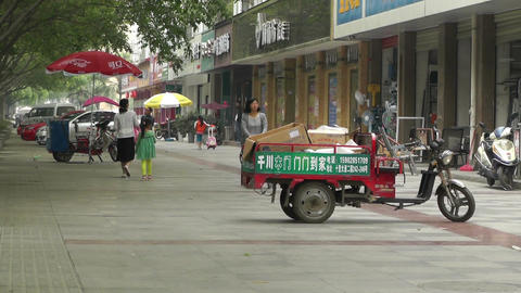 Jintang Town Chengdu Area Sichuan China 47 street Stock Video Footage