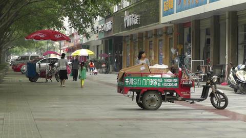 Jintang Town Chengdu Area Sichuan China 47 street Stock Video Footage