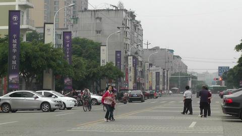 Jintang Town Chengdu Area Sichuan China 54 street Stock Video Footage