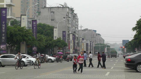 Jintang Town Chengdu Area Sichuan China 54 street Stock Video Footage