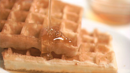 Honey flowing in super slow motion Stock Video Footage