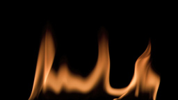 Burning fire in super slow motion Stock Video Footage