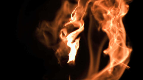 Fire flames in super slow motion Stock Video Footage