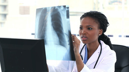 Doctor looking to a chest Xray Stock Video Footage