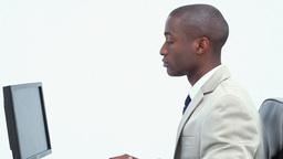Black businessman working Stock Video Footage