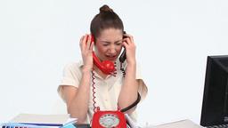 Overworked businesswoman Footage