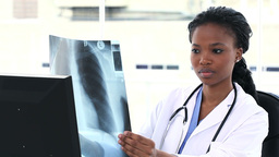 Doctor examining lung radioscopy Stock Video Footage