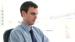 Young businessman working Stock Video Footage