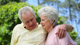 Retired couple embracing each other Footage