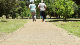 Mature couple jogging together Stock Video Footage