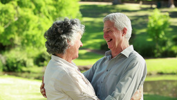 Smiling mature couple embracing each other Footage