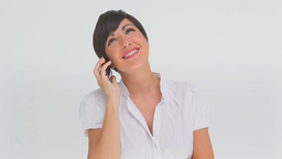 Businesswoman talking on a phone Stock Video Footage