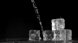Trickle of water in super slow motion flowing on i Stock Video Footage