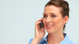 Laughing businesswoman on the phone Footage
