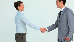Handshake between two business people Stock Video Footage