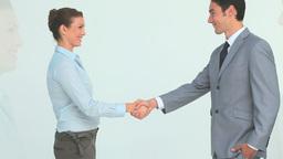 Handshake between two business people Footage
