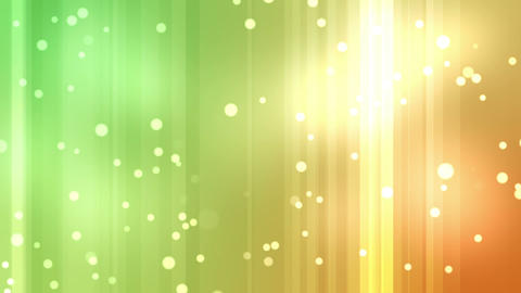 Yellow and green streams of light with shining sta Animation