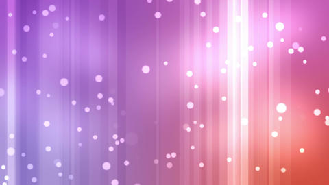 Purple and orange streams of light with shining st Animation