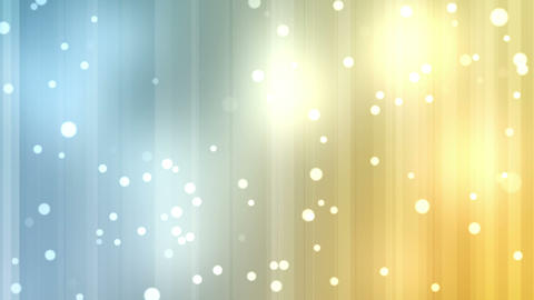 Yellow and blue streams of light with shining star Stock Video Footage