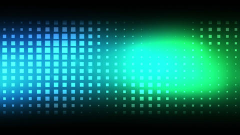 Moving blue and green squares Animation