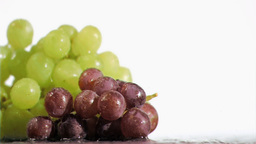 Delightful grapes in super slow motion receiving w Footage