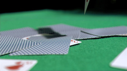 Playing card in super slow motion falling Footage