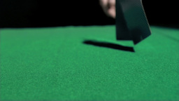 Cards in super slow motion being thrown Footage