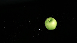 Apple rotating in super slow motion Footage