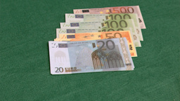Euro currencies spread in super slow motion Footage