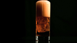 Fizzy drink with ice in super slow motion Stock Video Footage