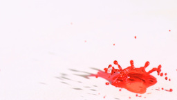 Red droplet splashing in super slow motion Footage