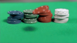 Poker chips placing in super slow motion Stock Video Footage