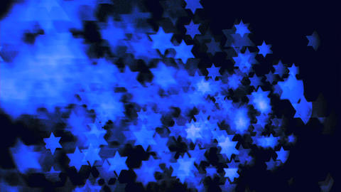 Blue stars floating in super slow motion in the ai Stock Video Footage