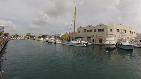 seawalk downtown barbados paning left to right Footage