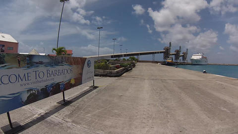 welcome to barbados pier Footage