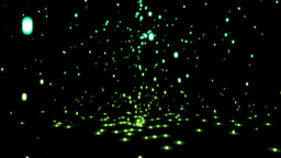 Falling green sparkles Stock Video Footage